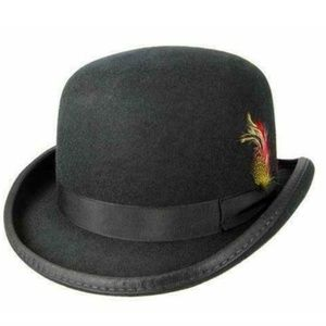Other - Godfather Derby Fedora Round Top Hat Feather Hat
